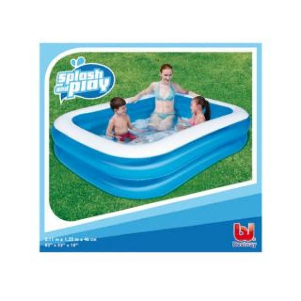 Bestway 2 rings zwembad 211x132x46cm zwembad specialist nl for Afdekzeil zwembad blokker