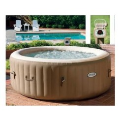 Intex 28404 PureSpa Bubble Therapy Jacuzzi 4-Persoons Set 191/141x71cm