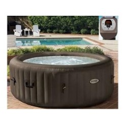 Intex 28424 PureSpa Jet Massage Jacuzzi 4-Persoons Set met Zoutwatersysteem 196/145x71cm