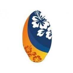 Houten Skimboard Flower Oranje/Blauw 100cm