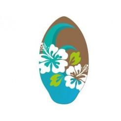 Houten Skimboard Flower Blauw/Bruin 100cm