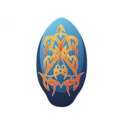 Houten Skimboard Tribal Blauw/Oranje 100cm