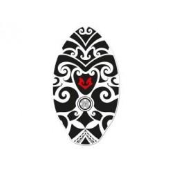 Houten Skimboard Tribal Zwart/Wit 100cm