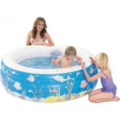 Summertime Doodle Zwembad Zelf Kleuren met Krijtjes 152x50cm